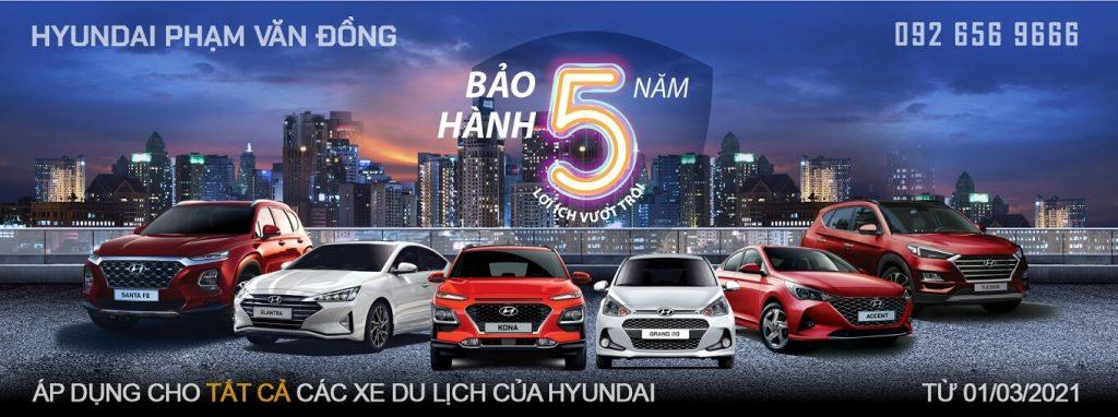 Hyundai nâng bảo hành 5 năm cho các mẫu xe du lịch 1